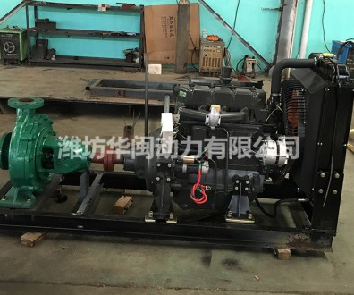 50KW柴油机水泵机组 潍柴系列R4105AP柴油机 IS125-100-400B水泵