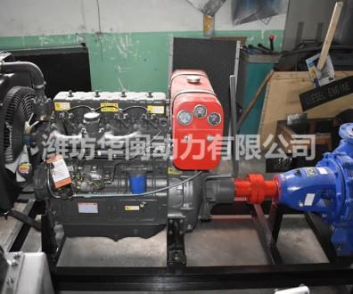 30KW柴油动力水泵机组 K4100P柴油机 中开泵IS150-125-315
